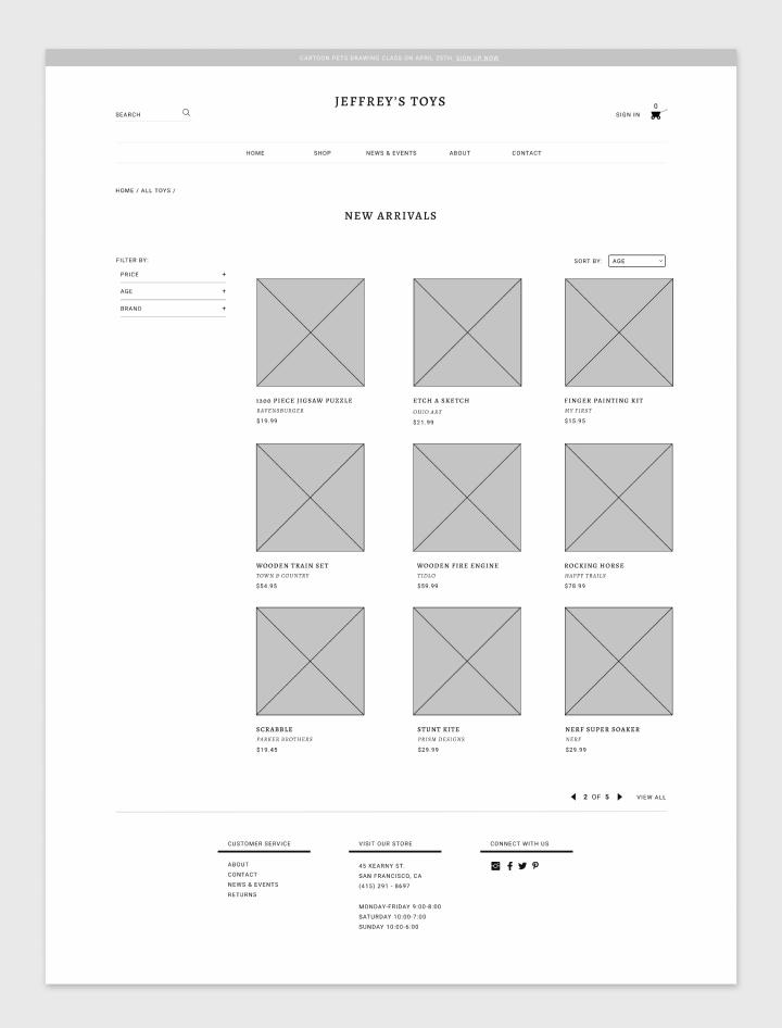 一个玩具购物网站的设计流程分享